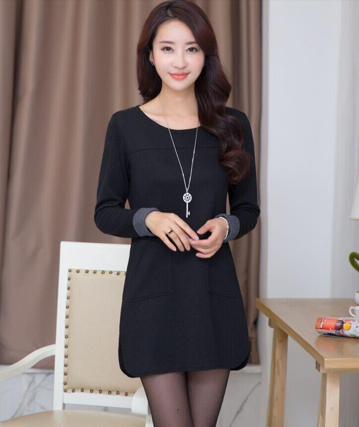 韩版女装批发修身长袖连衣裙批发2015便宜秋季连衣裙批发市场