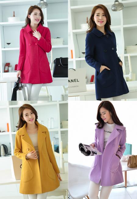 最便宜最高档气质淑女中长款韩版妮子大衣外套批发