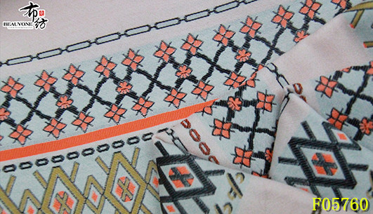 北京女装提花面料F05760布衣纺