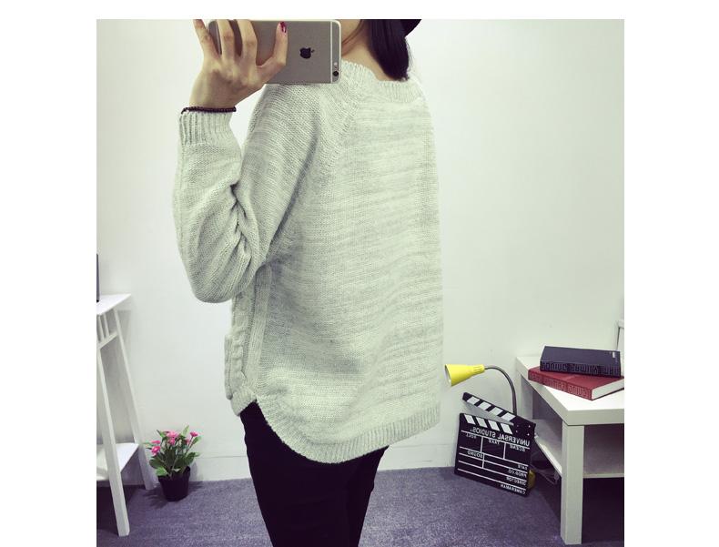 广西服装供应2015秋装上市新款女装韩版拼接口袋中长款卫衣