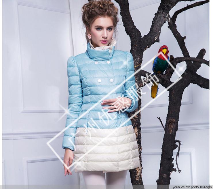 杭州品牌秋水伊人冬季女装时尚优雅外套尾货货源批发走份