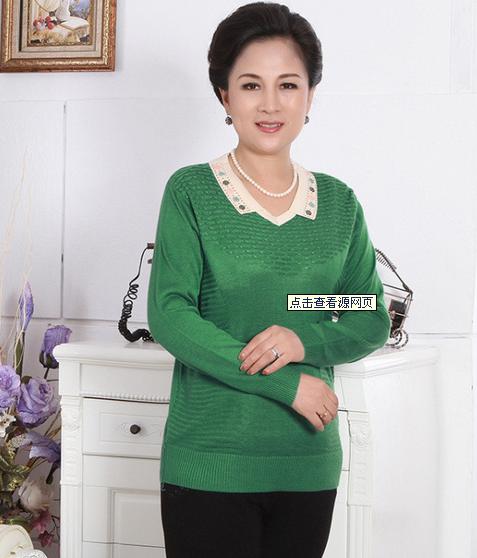 大码毛衣长款韩版中老年女装毛衫批发便宜羊毛衫清仓处理