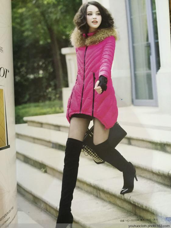 曼丝秀登羽绒服,女装品牌折扣尾货,女装批发