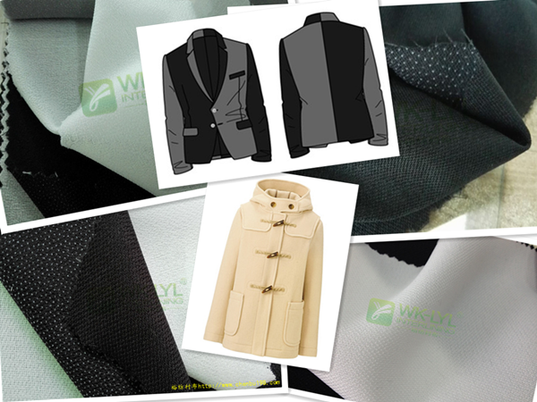 工厂直销西装衬/大衣服装专用衬冬季衬布现货供应