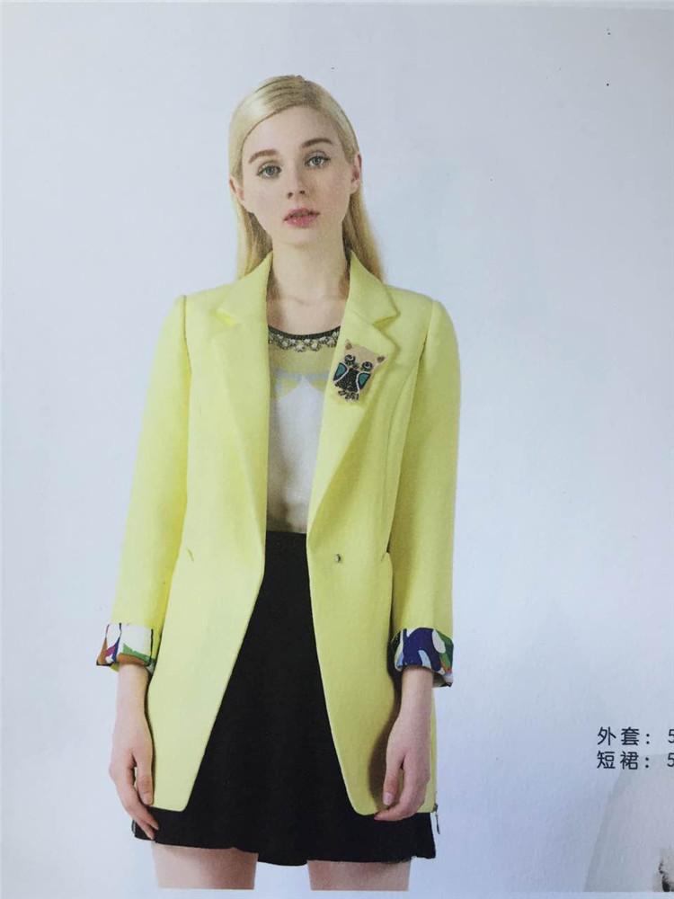15秋装西十二街连衣裙长袖欧美大牌修身显瘦女装品牌折扣走份