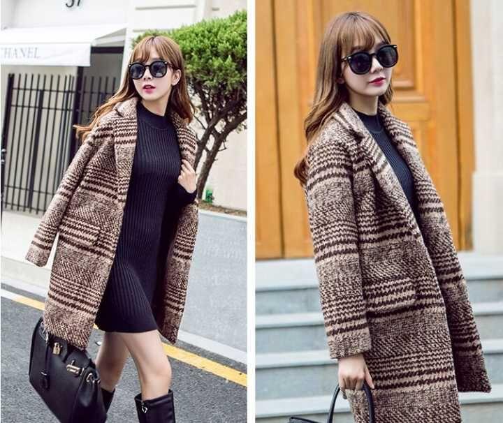 大衣外套批发毛呢大衣新款韩版女装一手货源呢子大衣批发呢子外套批发
