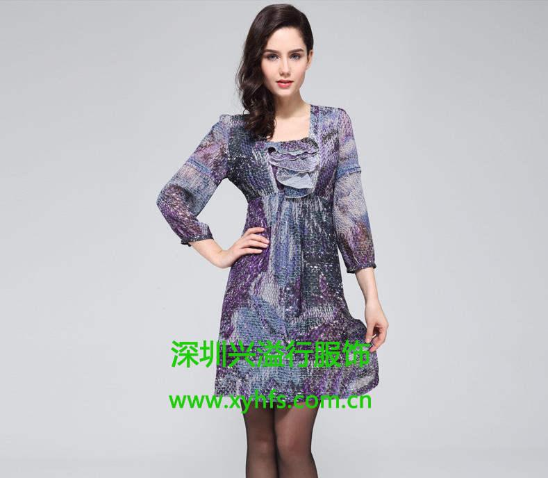 时尚大气珂尼蒂思折扣女装女装批发另有台湾芳f