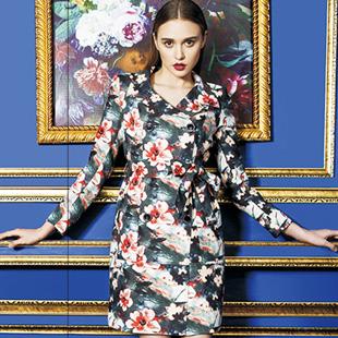 古舞花色女装加盟-花连衣裙品牌领导者