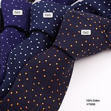 【厂家直销】男士多种颜色的波点休闲的全棉领带