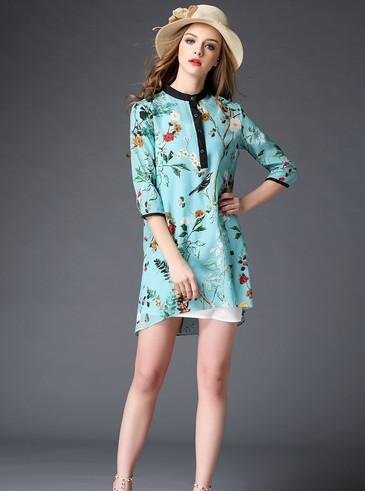 品牌折扣女裝批發-大碼女裝-真絲連衣裙大碼