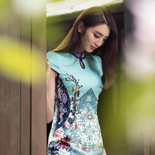 清新淡雅中国风 时尚女人华姿韵