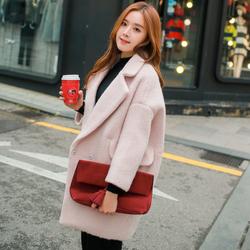 服装回收-双面呢毛呢外套高端纯手工澳洲双面羊绒尼子大衣女