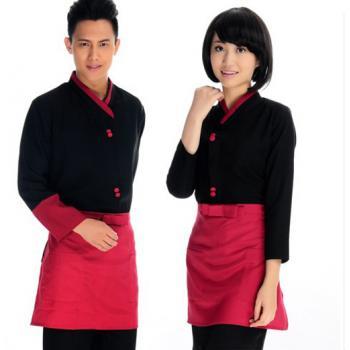 上海酒店服务员服装定做 上海定做酒店服务员工作服