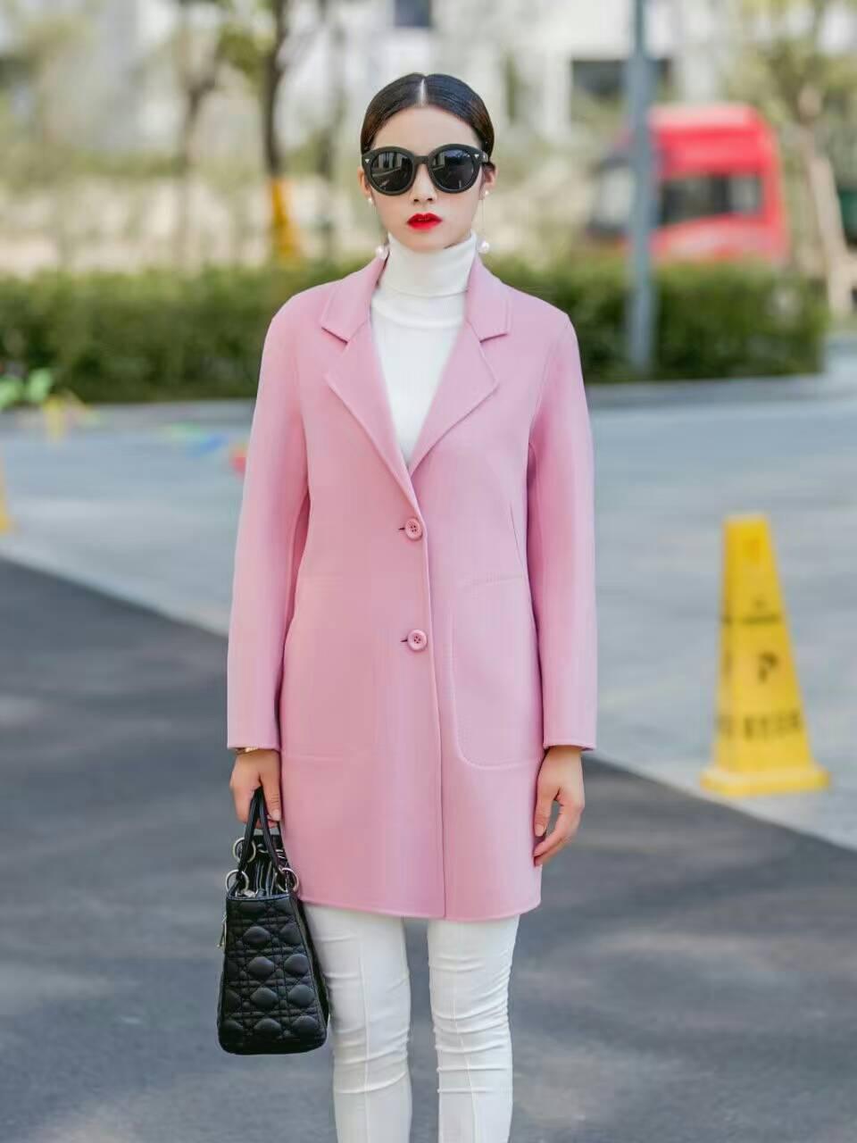 无锡欧宝迪厂家直销纯手工百分百纯羊毛双面羊绒大衣