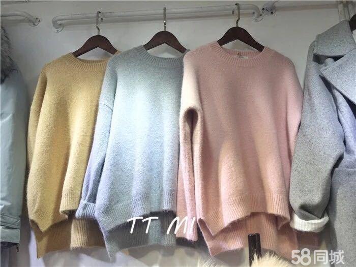 北京外贸尾单毛衣开衫批发,棉服批发秋冬装低价批发