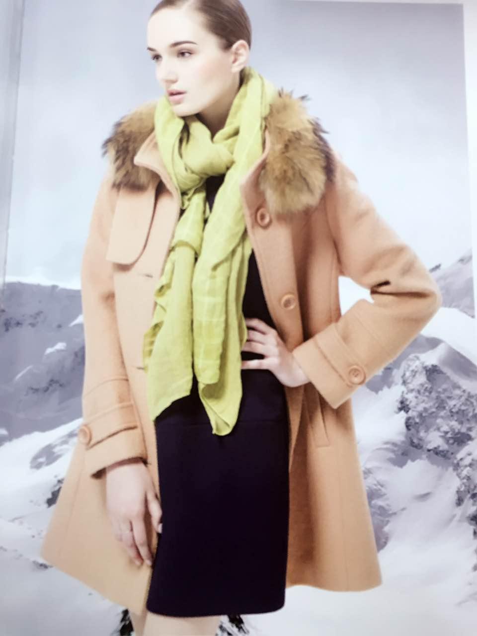 子译述色 冬装 呢大衣外套 女装 品牌折扣店货源 库存尾货批发