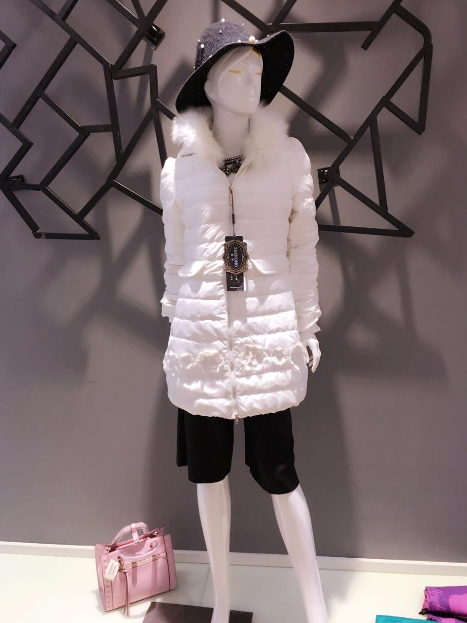 2015冬装女装品牌雪鸿&雅梵娜羽绒服尾货走份 品牌折扣店货源批发