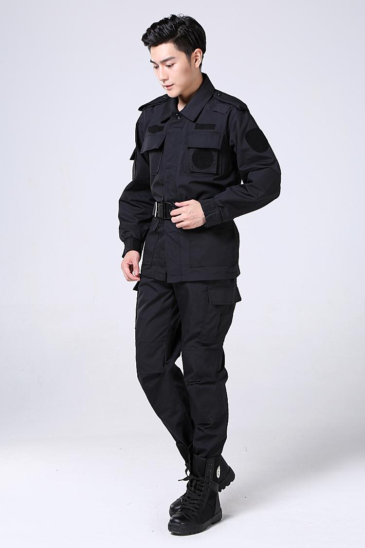 春秋长袖保安训练服耐磨防撕裂训练服套装物业门卫工装