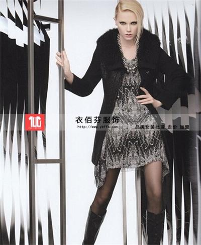 慧之芳羊绒大衣品牌折扣女装,衣佰芬服饰