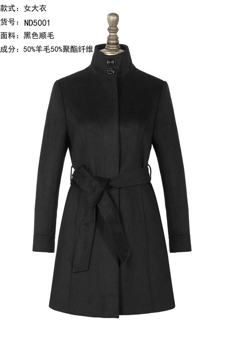秋冬长款加厚羊绒大衣女高端中长款羊毛呢女大衣系带外套风衣