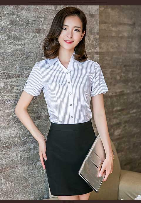 惠安工作装 想买舒身的女士职业衬衫就到一条龙服装
