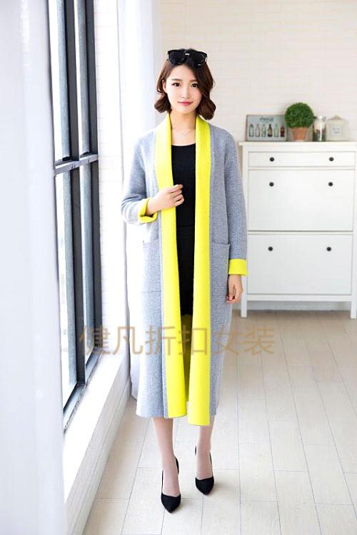 深圳品牌欧兰卡大衣女装库存折扣批发 一线品牌风衣走份批发