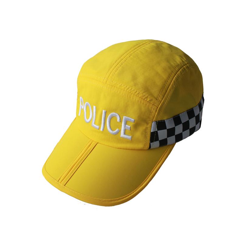 凯维帽业 绣花LOGO可折叠警察运动帽 速干面料 广州帽厂OEM定做