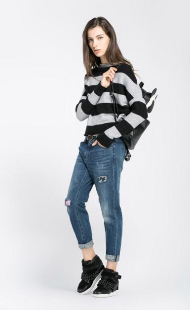新款韩版针织毛衣加工厂