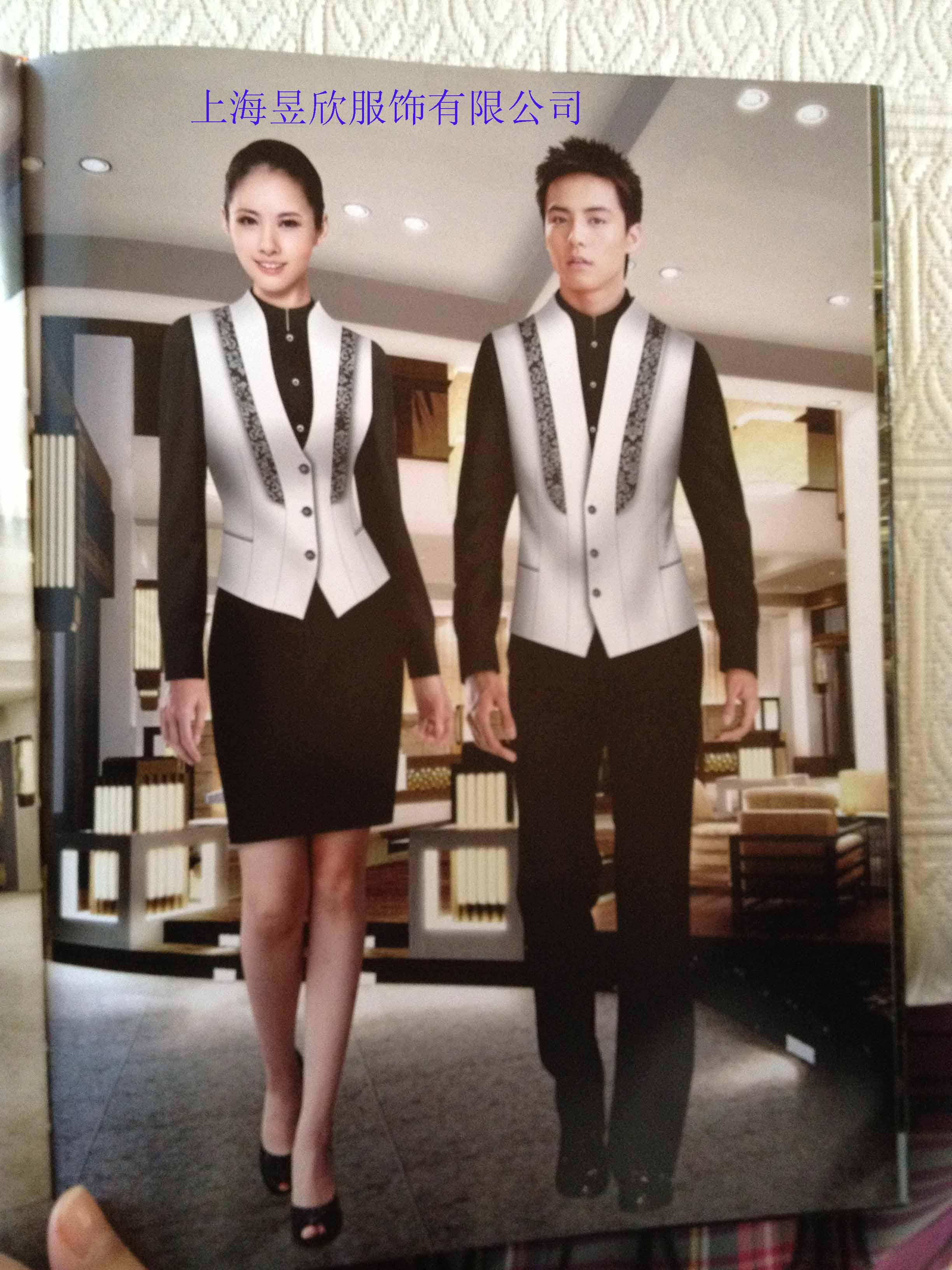 上海酒店工作服定做 订做酒店服务员制服