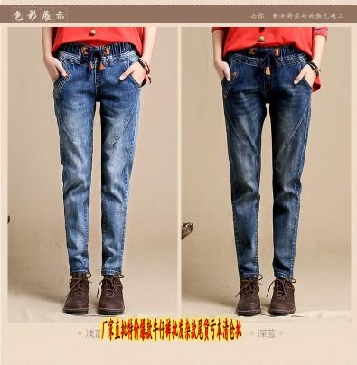 广东哪里有尾货库存牛仔裤批发低至1元弹力小脚牛仔裤批发
