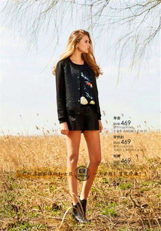 华丹尼冬装大衣棉衣连衣裙毛衣上衣系列品牌折扣女装走份批发