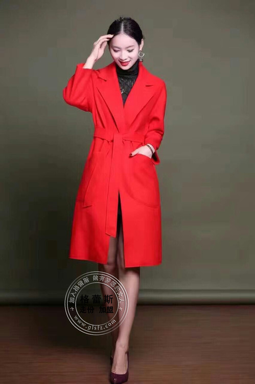 广州广西服装批发新款大衣长款呢子大衣尾货批发