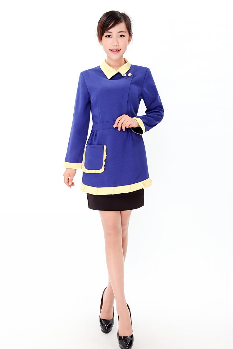 上海订做酒店服务员制服上海酒店制服订做