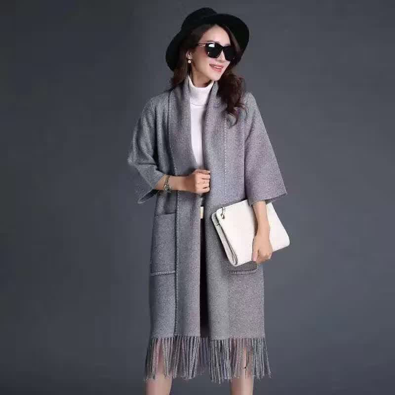 2015冬季女装 新款貂绒大衣连衣裙品牌折扣店货源走份批发