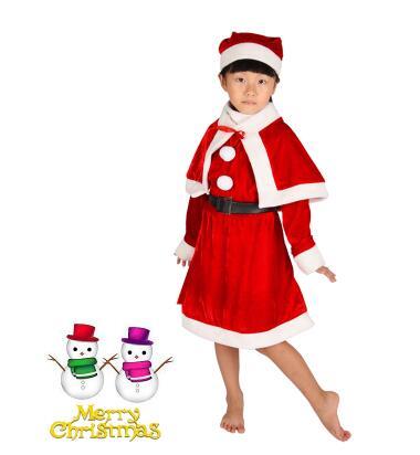 儿童圣诞表演服女装