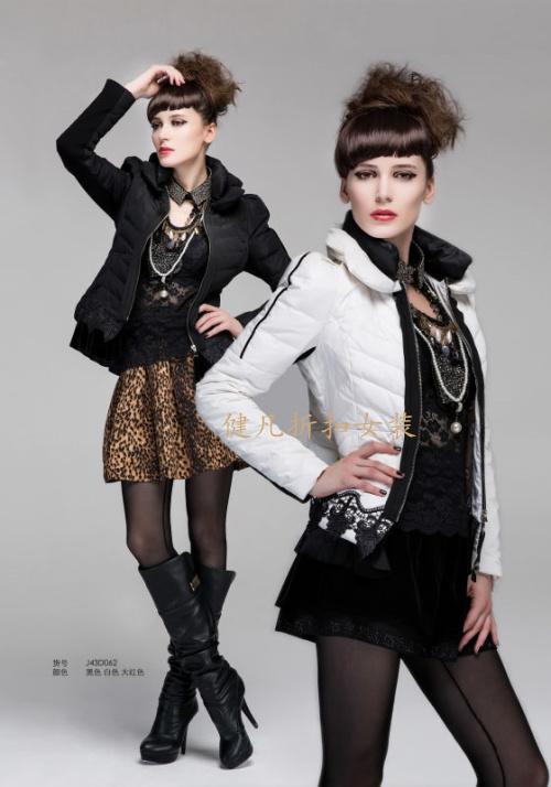品牌女装折扣批发、貂绒大衣、羽绒棉衣批发