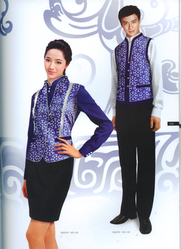 上海订做冬季酒店工作服订做上海订购酒店制服