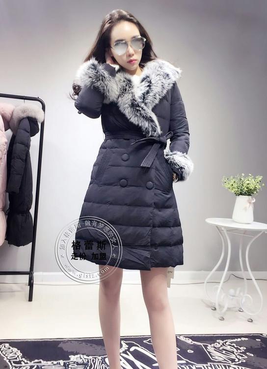 16年时尚新款羽绒服-加盟品牌折扣女装店就找格蕾斯服饰