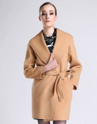 深圳高端折扣女装CK双面呢大衣特价供货