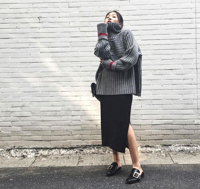 女式厚毛衣加工厂