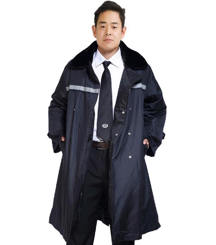 批发带反光条勤务服 保安物业冬季执勤服 保暖防寒棉衣