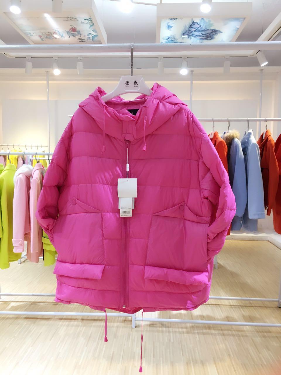 都市优雅冬季女装羽绒服时尚女装批发 品牌折扣店货源 厂家直销