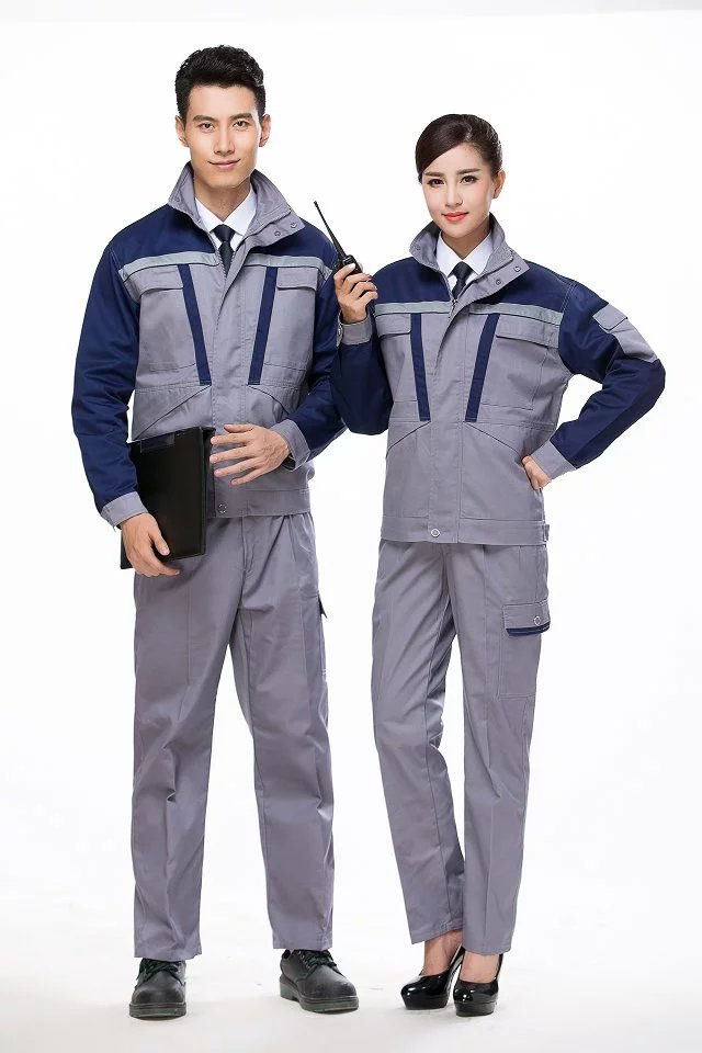 代理加厚纱卡拼色工作服套装|广东信誉好的冬季劳保服供应商