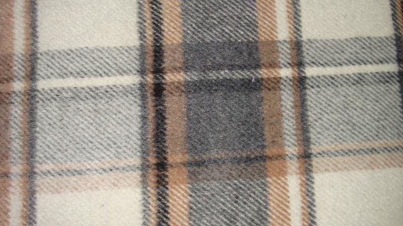 现货批发粗纺圈圈格子呢毛呢面料 供应时尚秋冬大衣用布毛呢面料