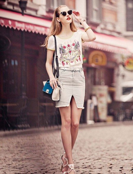 村上春17年新款夏 品牌女装折扣尾货批发哪家货源便宜正规