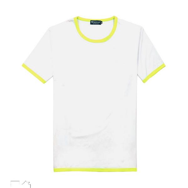 新款男女短袖广告衫T恤公司,推荐圣伊莉服装_专业的牛奶丝捆边撞色短袖T恤