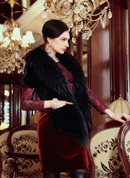 旗袍外套手绘图