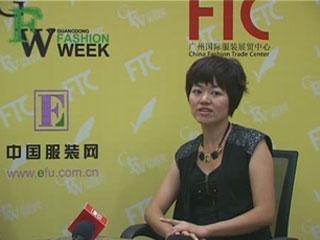 直播2012广东时装周•专访COOLLV酷侣品牌设计总监杨珊女士