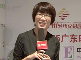 2015广东时装周秋季专访丝丽女装设计总监周艳云