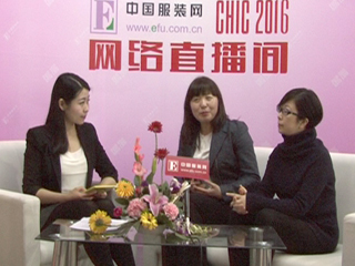 2016CHIC直播采访哥本哈根皮草媒体公关经理袁劲松